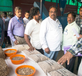 Workshop participants visit the ILRI research station at ICRISAT, India. (Photos: S Punna, ICRISAT)