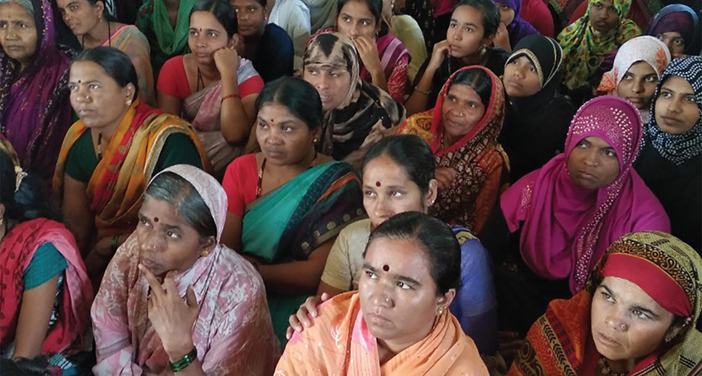 Women who have been empowered gather for a meeting in Ukkali village. Photo: S Arun, ICRISAT